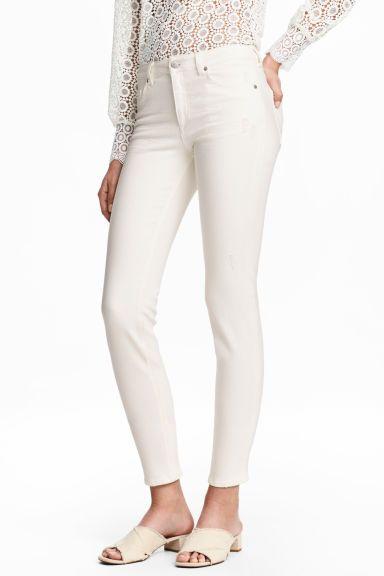 Slim Cropped Regular Jeans - Écru - FEMME | H&M CH 1