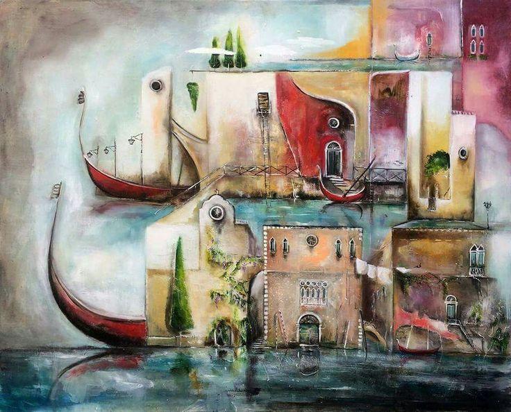 Hullan Bea Venice 120x100 oil, canvas Painting