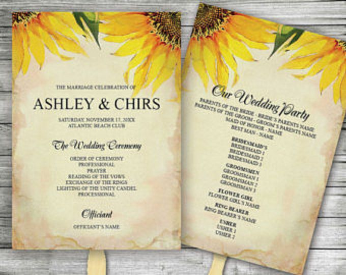 This Sunflower Save The Date Card By VG Invites Is Perfect For Late Summer And Fall Wedding Program FansWedding