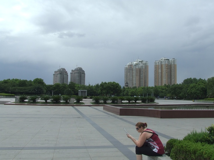 Yiwu, Zhejiang province, China, and a rare moment of complete space.