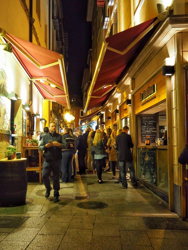 Famous tapas street in Logroño, Spain.  Guess I know where I'll be eating this day!