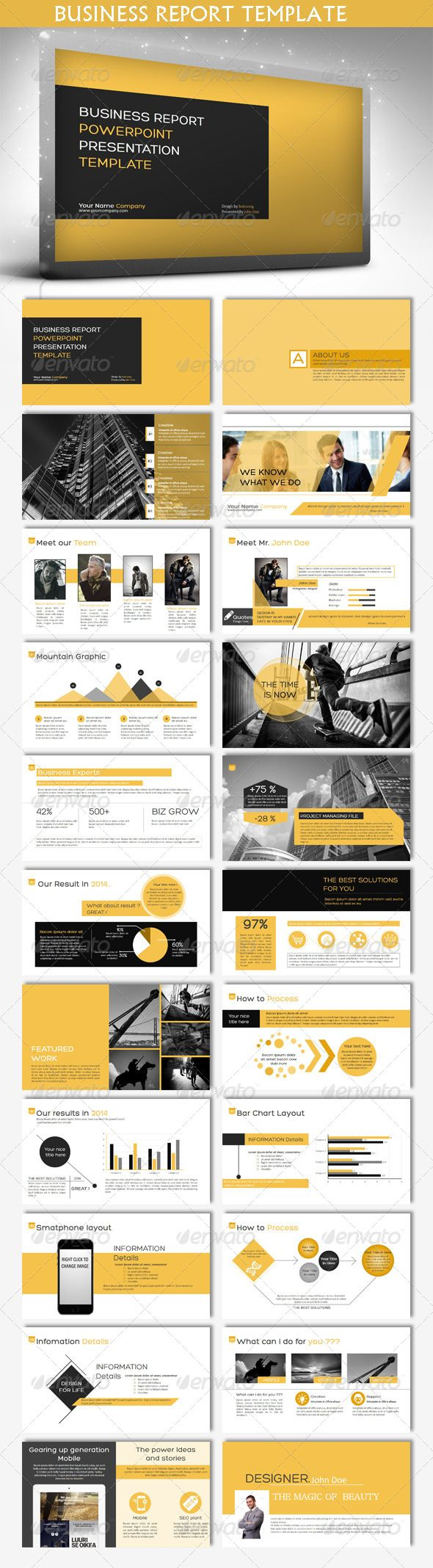Business Report Powerpoint Template (Powerpoint Templates) #Powerpoint #Powerpoi