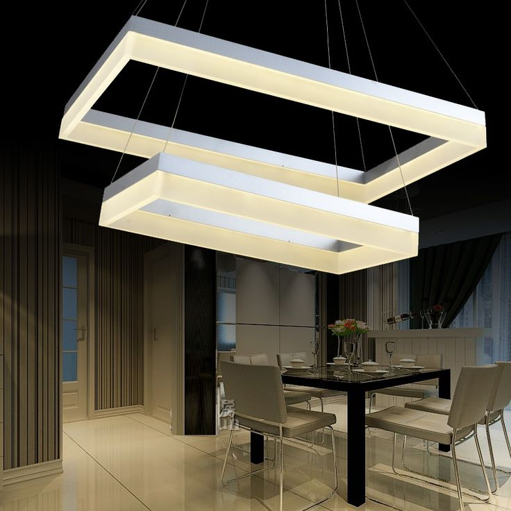 992.43$  Watch now - http://alig3i.worldwells.pw/go.php?t=1598541082 - Led pendant light rectangle living room lights brief modern bedroom lamps lighting 992.43$