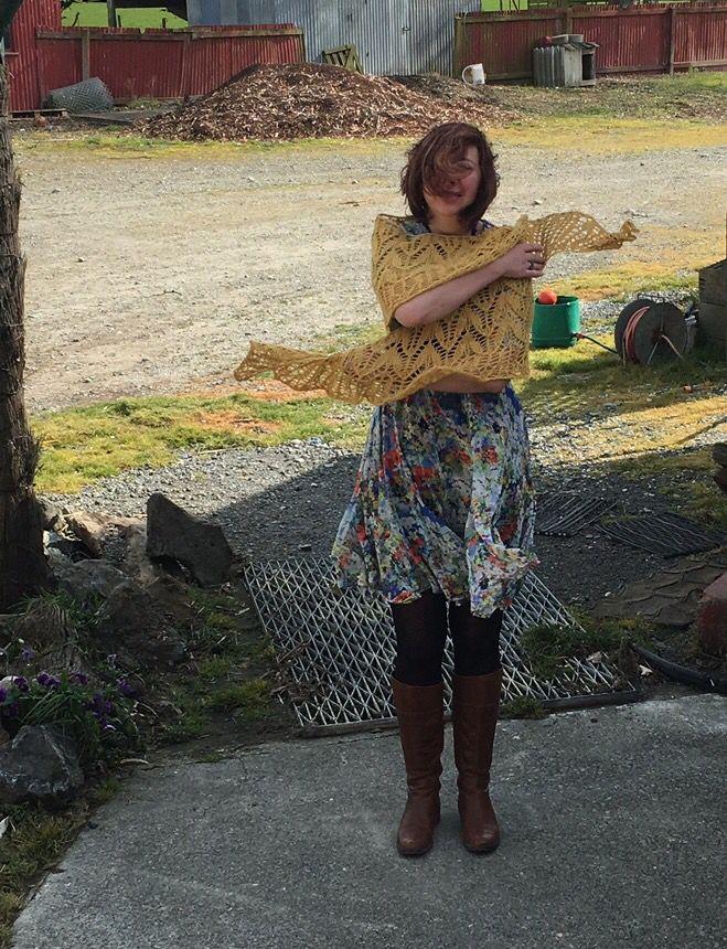 Sacre coeur shawl