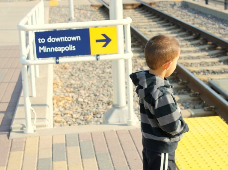 Boy Waiting for Train
