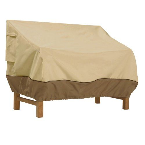 Elegant protection for #patio bench seats against the elements.