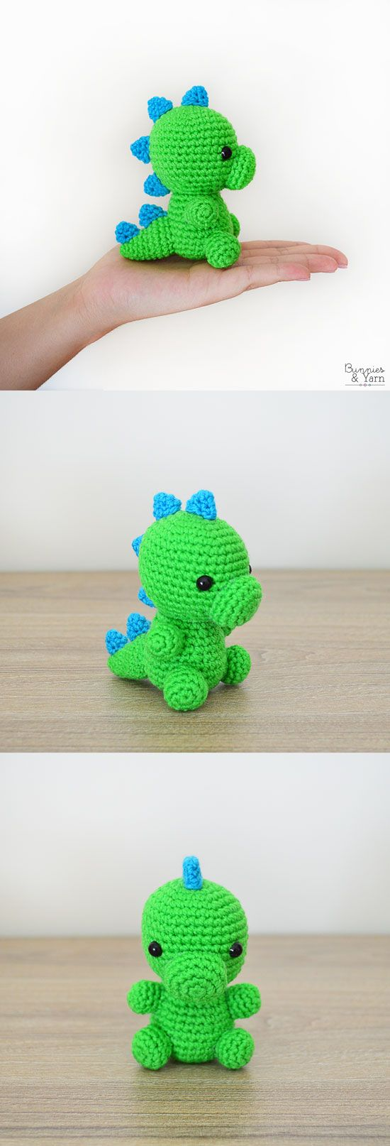 CROCHET PATTERN in English – Dinosaur – Baby #5 – Babies Collection – Amigurumi Toy – Instant PDF Download
