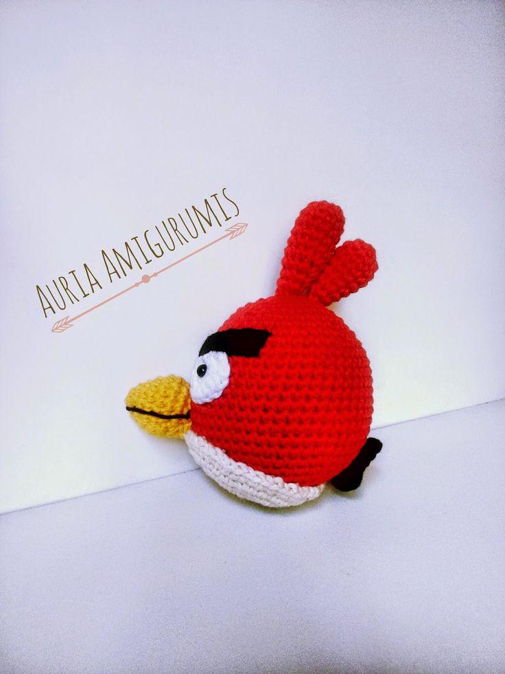 Angry Birds Amigurumi. Un pájaro enfadado....