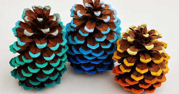 Ozdobte si domácnosť šiškami namaľovanými v štýle ombré. Pozrite si DIY návod, ako postupovať! Ombré šišky, nápad urob si sám na vianočné ozdoby zo šišiek
