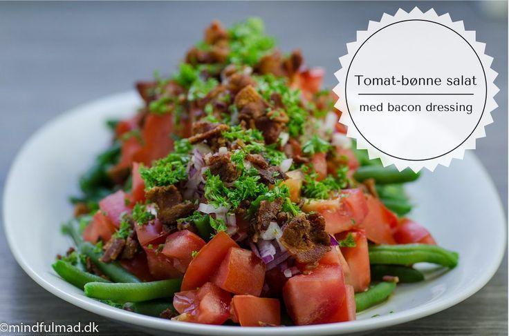 Tomat- bønnesalat med bacon dressing…