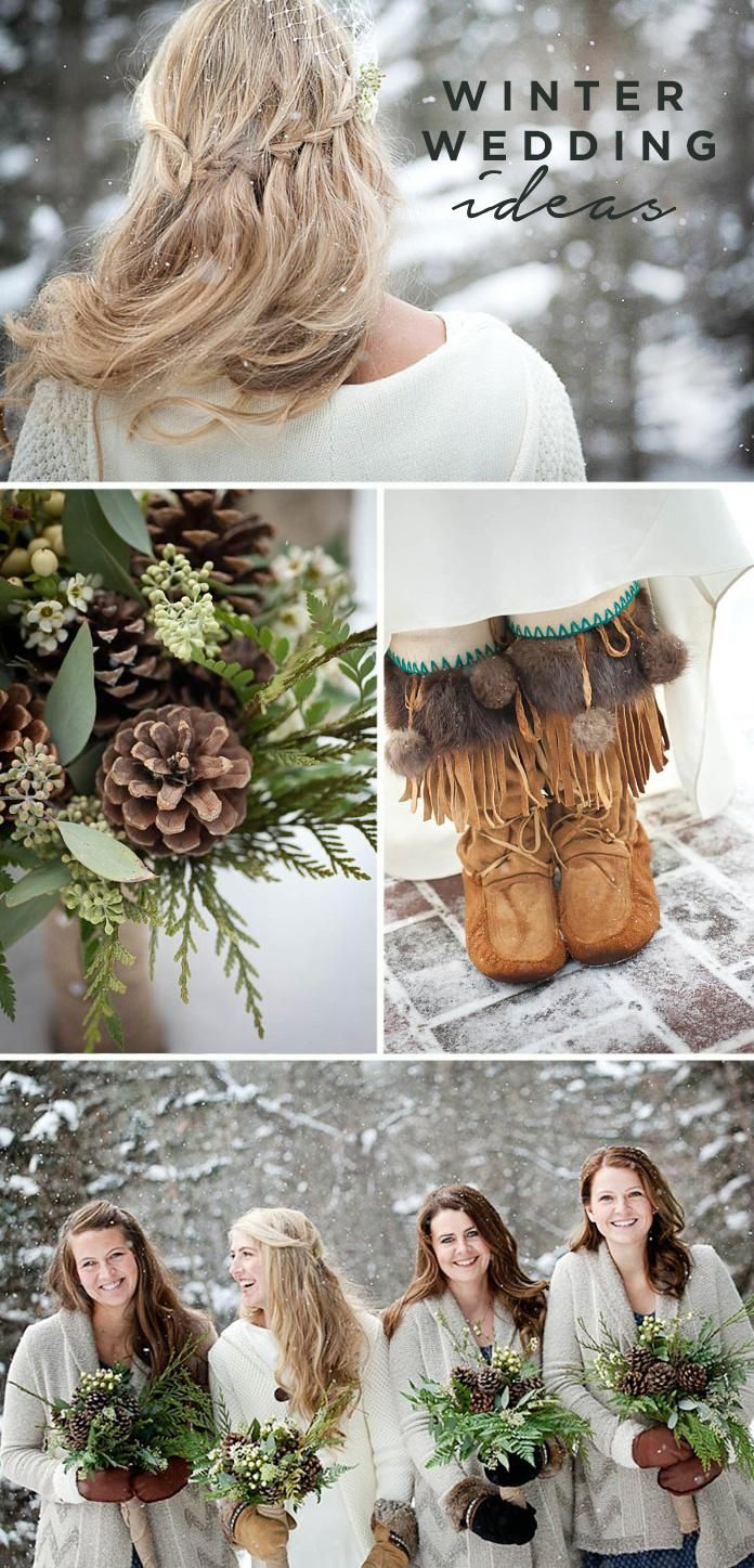 Who says your winter wedding has to be boring? The mixture of rustic greenery and earthy color schemes truly captures the woodland wonderland you're going for on your big day.