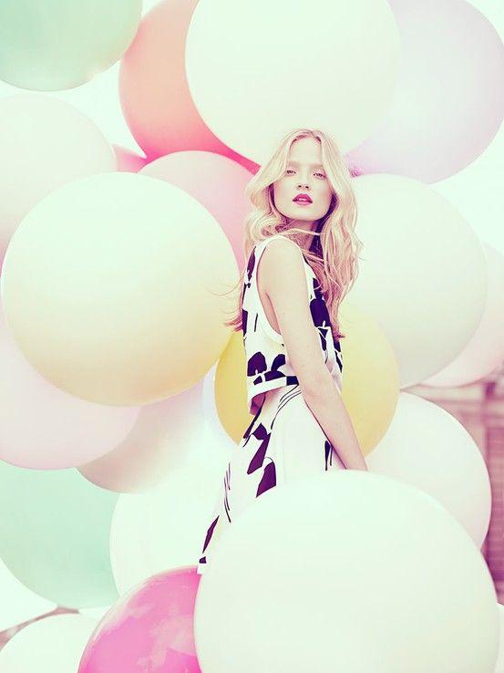 #pastel: Models, Colour, Luis Monteiro, Giants Balloons, Fashion Photography, Big Balloons, Pastel Balloons, Fashion Editorial, Pastel Color