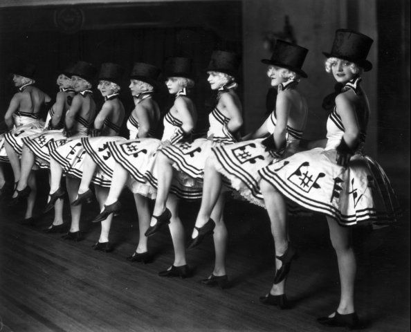 """ The Chorus line fom a cabaret show at the Piccadilly Hotel in London,1925 """