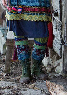 """Muhu"" cotton/wool leg warmers – Homewear - the Muhu way – GUDRUN SJÖDÉN"