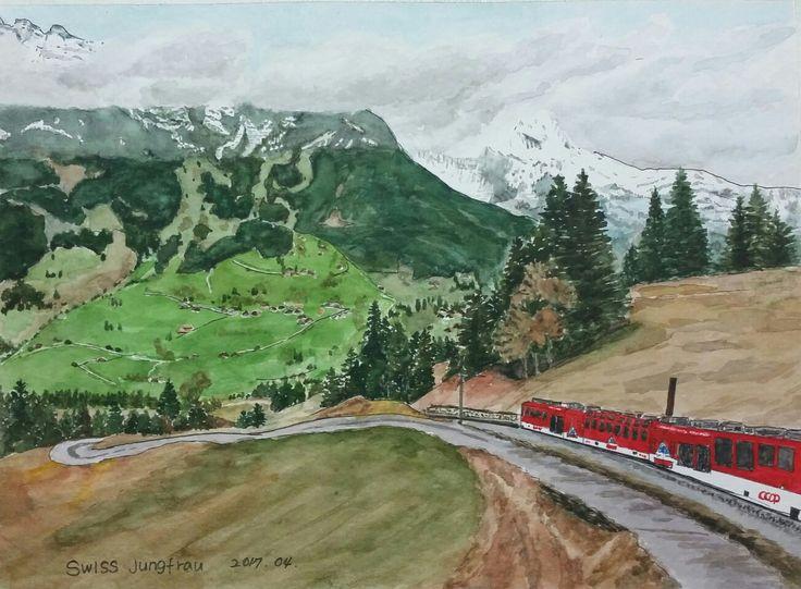 Swiss  Jungfrau 산악열차