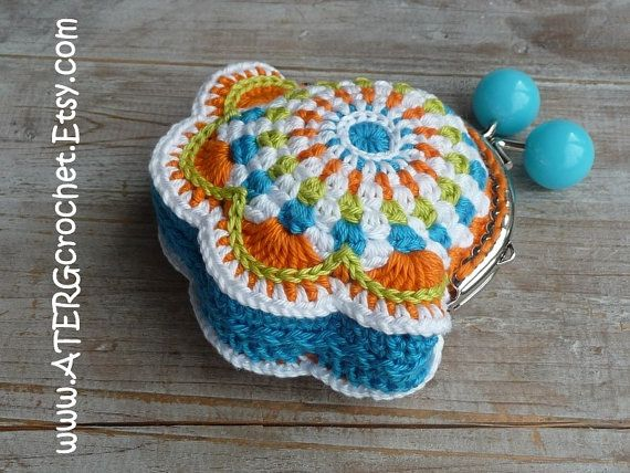 PURSE 'turquoise' by ATERGcrochet by ATERGcrochet on Etsy, €18.50