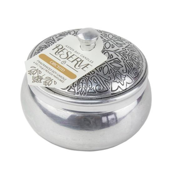Aspen Bay Candles - Reserve Silver Tin Orchid