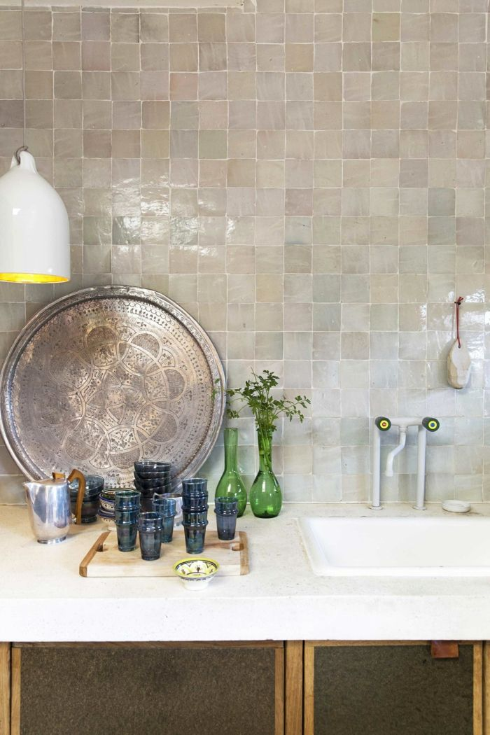 Mdeco Moderne Zellige Carreaux Kitchen Tiles Backsplash Creative Kitchen Backsplash Kitchen Design Small