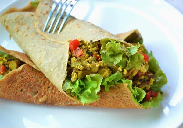Веганский Нежданчик: Гречневые блинчики с начинкой из тофу и овощей
