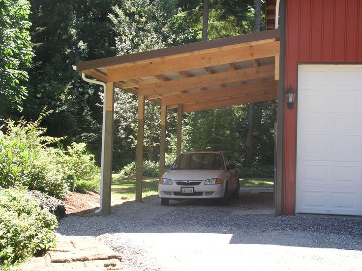 16 best carport ideas images on pinterest carport patio for Attached garage kits