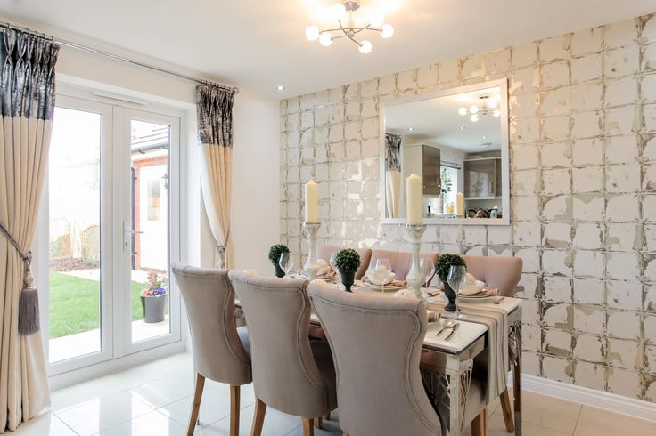Taylor Wimpey Midford Show Home Kingsmead. I Love The Texture The Wallpaper  Adds. Clean