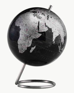 59 best desktop globes images on pinterest world globes desk replogle spectrum desktop world globe with unique stainless steel axis base and 6 inch diameter metallic silver map slate gray ocean ball gumiabroncs Images