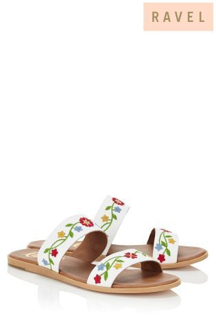 Buy Ravel Embroidered Flat Sandals online today at Next: Israel
