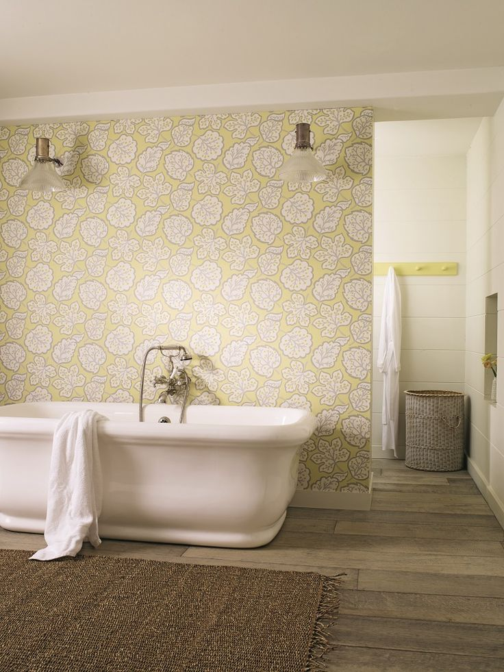 Jewel Leaves from the Sanderson Papavera wallpaper collection.