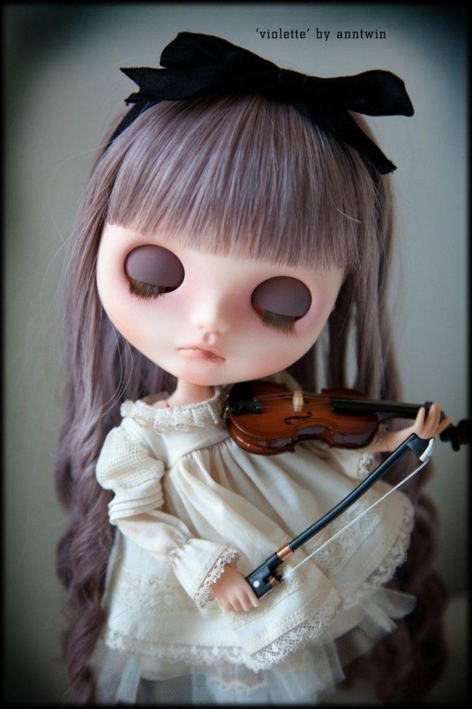 OOAK Custom Blythe Doll 'Violette' by anntwin
