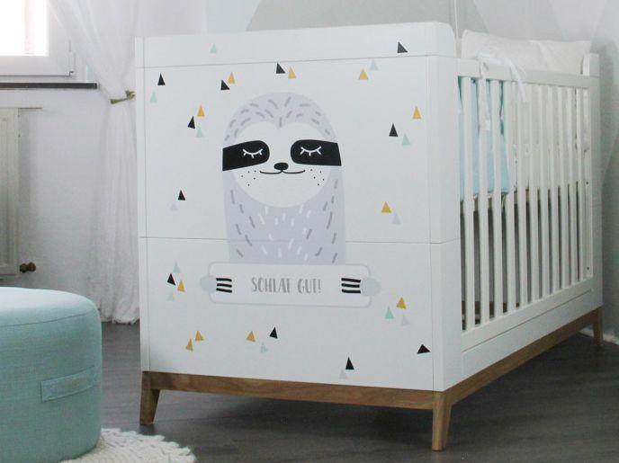 Dekorationsfolie DRÖM personalisiert für IKEA Babybett oder Zimmertür – LÖWE