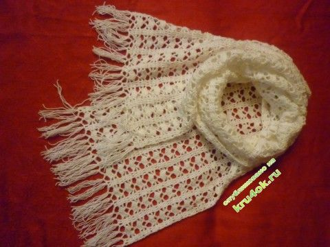 фото вязаного крючком шарфа
