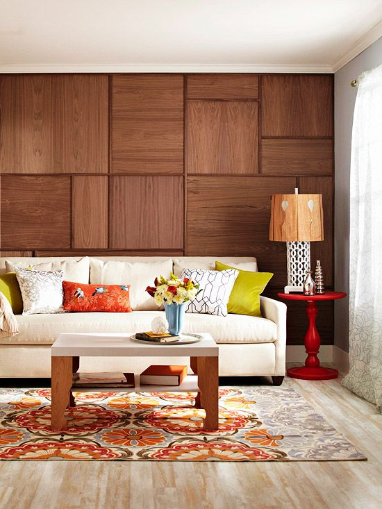 add delightful details around your home - Wooden Panelling For Interior Walls