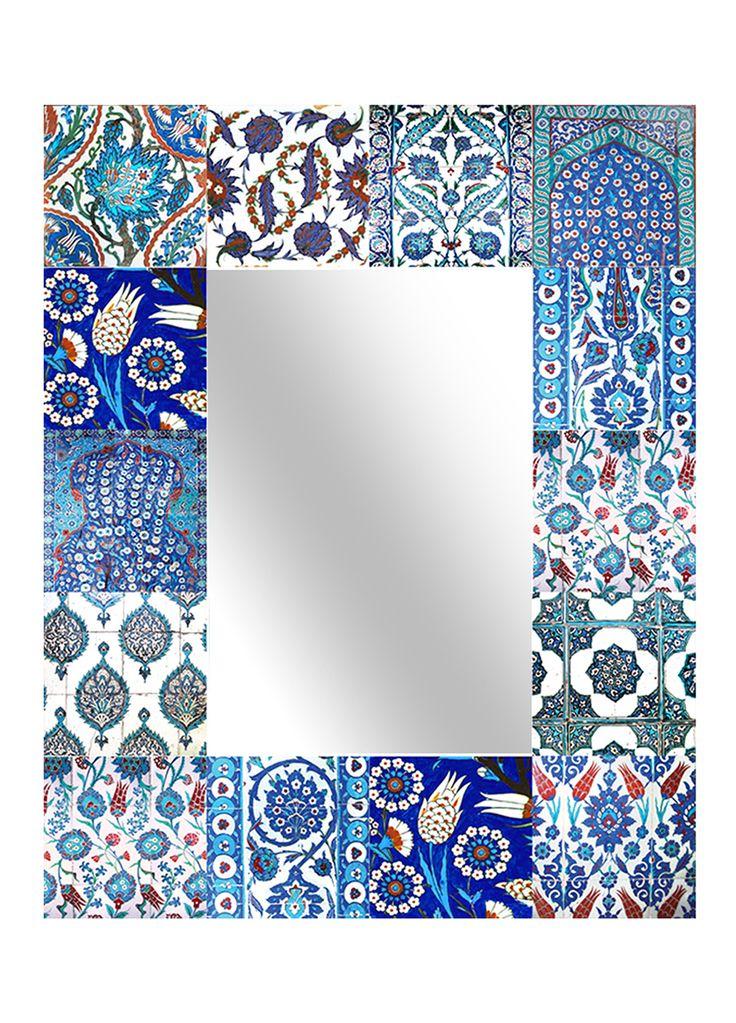 Anna Chandler - Patchwork Blue Mirror