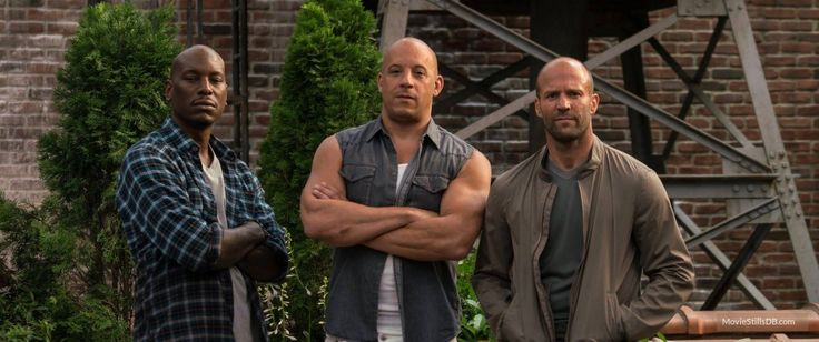 Fast & Furious 8 - Behind the scenes photo of Vin Diesel, Jason Statham & Tyrese Gibson