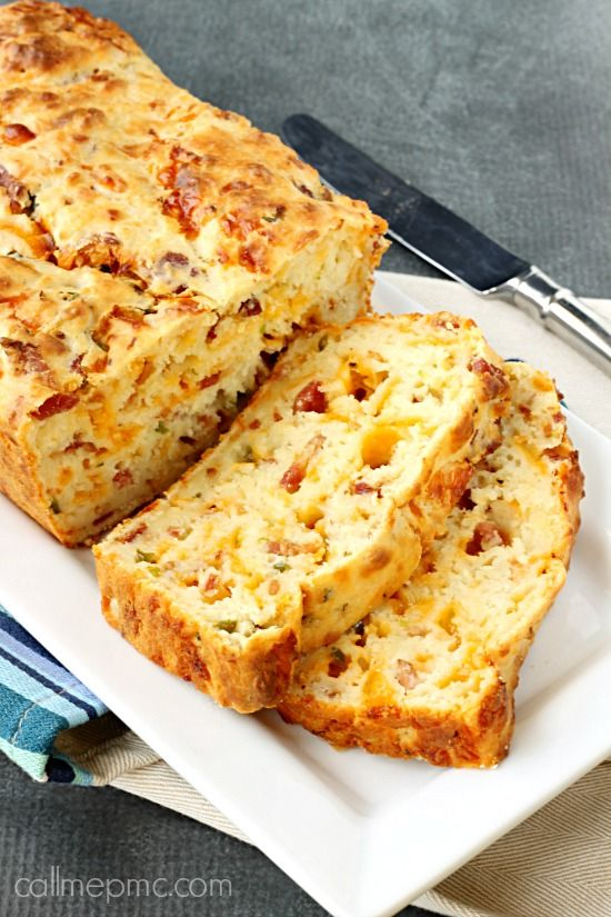 Bacon cheddar cheese Jalapeno Popper Bread. I use beer instead of buttermilk.  This bread is dense (heavy) and good with soups too.