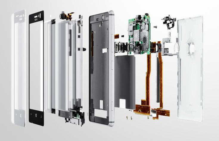 Nokia 925 Exploded view.