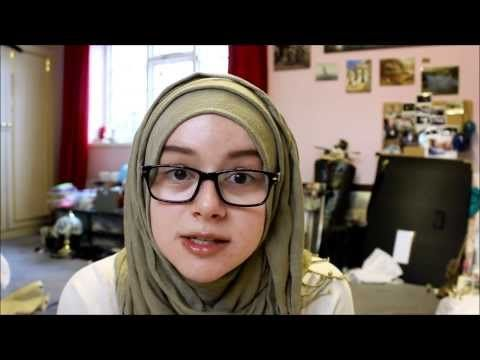 Simple Hijab tutorial - great for glasses :) - YouTube