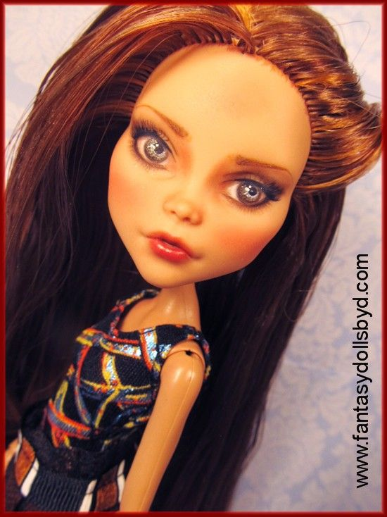 Custom Cleo De Nile Monster High Doll Repaint and Reroot by Donna Anne's Fantasy Dolls. www.fantasydollsbyd.com