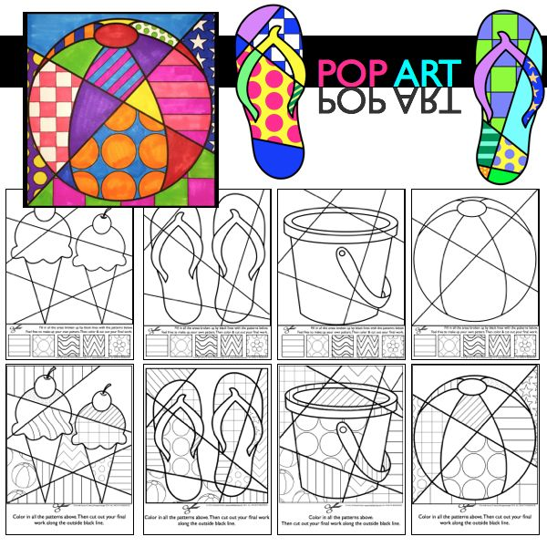 Summer coloring sheets for kids that are unique and fun. Interactive (no two are…