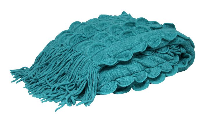 The Leanne Throw - Aqua from Urban Barn is a unique home décor item. Urban Barn carries a variety of Throws and other  products furnishings.