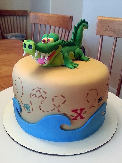 Jake and the Neverland Pirates Birthday Cake - maybe with a pirate face instead of the tic tok croc