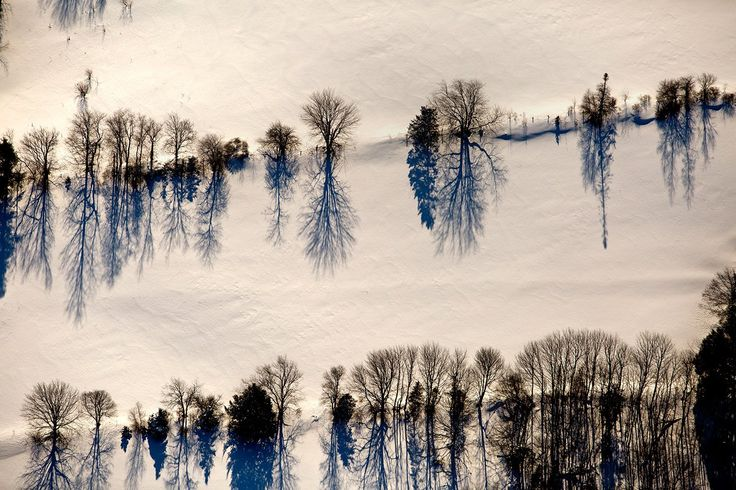 Staff photographer Gabe Souza took to the air to capture these scenic shots on Maine's snow-covered landscape.