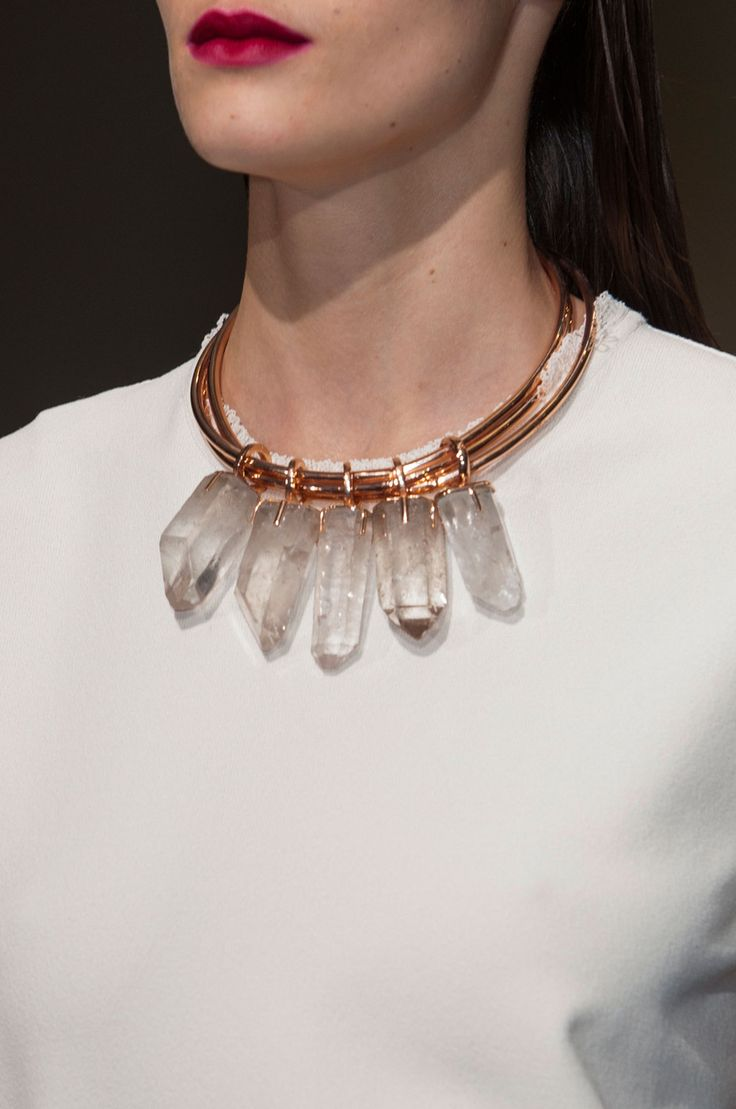 Inspiration: Cedric Charlier Spring 2015 #crystal #jewelry