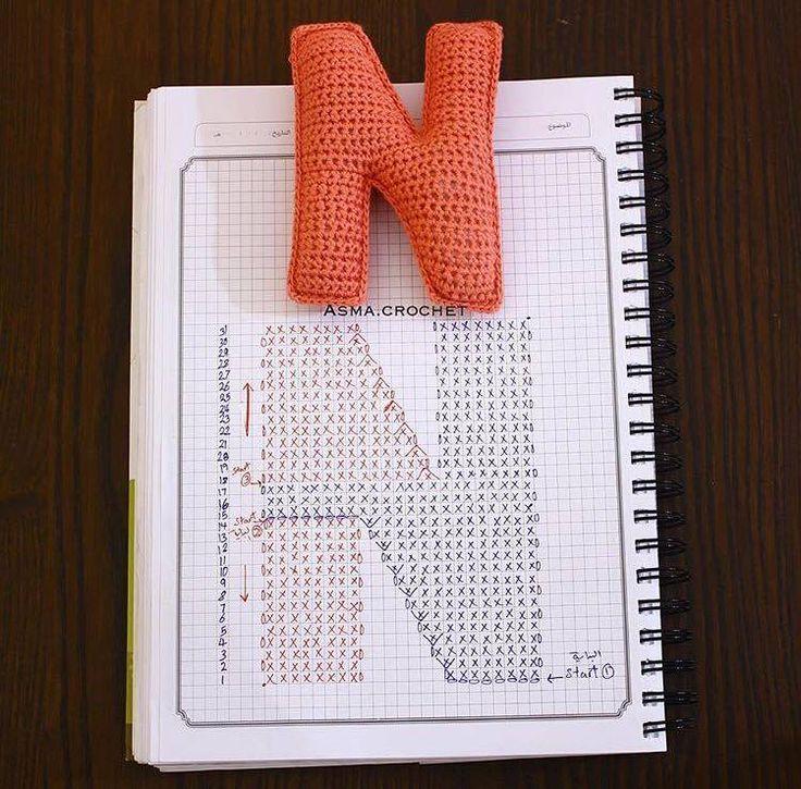 30 best Letras en crochet images on Pinterest | Crochet letters ...