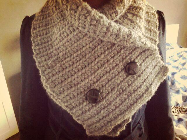 Zelfgehaakte sjaal