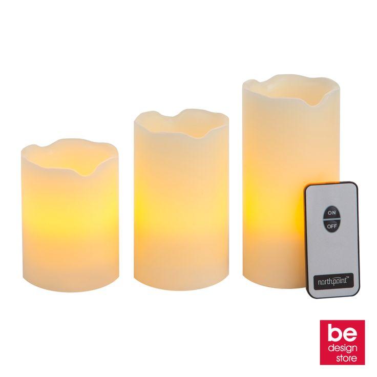 ¡Enciende el ambiente de tu hogar con las Magic Candles! Crea momentos especiales y disfruta de una agradable compañía a la luz de las velas… eléctricas.Vienen con control remoto.