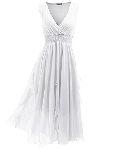 SUNNYCI Maxi Dress Beach Wear Chiffon Summer Long Dresses For Women WHITE Size XL SUNNYCI http://www.amazon.com/dp/B00KAVOQRM/ref=cm_sw_r_pi_dp_9o96tb06Z7YHZ