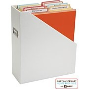 Vertical file folders labels, available at Staples (Martha Stewart) genius!