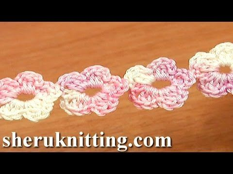Crochet Floral Cord Tutorial 55 Five-Petal Flower Cord ✿⊱╮Teresa Restegui http://www.pinterest.com/teretegui/✿⊱╮