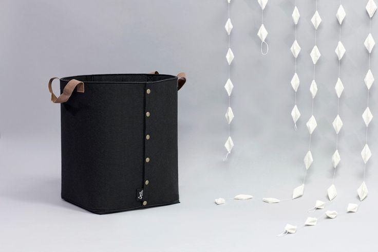 LAGRE black felt storage basket. Norwegian design by Christine E. Sveen for snedesign.com.